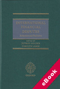 Cover of International Financial Disputes: Arbitration and Mediation (eBook)