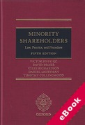 Cover of Minority Shareholders: Law, Practice and Procedure (eBook)