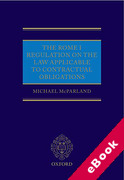 Cover of The Rome I Regulation on the Law Applicable to Contractual Obligations (eBook)