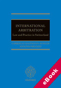 Cover of International Arbitration: Law and Practice in Switzerland (eBook)