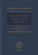 Cover of The Brussels I Regulation Recast