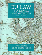 Cover of EU Law: Text, Cases and Materials