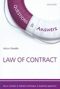 Cover of Questions & Answers: Law of Contract