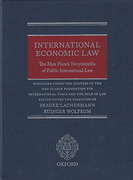 Cover of International Economic Law: The Max Planck Encyclopedia of Public International Law