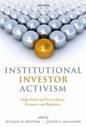 Cover of Institutional Investor Activism: Hedge Funds and Private Equity, Economics and Regulation
