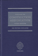 Cover of Coulson on Construction Adjudication