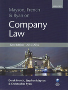Cover of Mayson, French & Ryan on Company Law 2015-2016