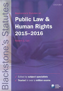 Cover of Blackstone's Statutes on Public Law & Human Rights: 2015-2016