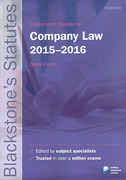 Cover of Blackstone's Statutes on Company Law 2015 - 2016