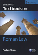 Cover of Borkowski's Textbook on Roman Law
