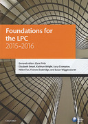 Cover of LPC: Foundations for the LPC 2015 - 2016