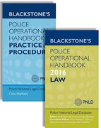 Cover of Bundled Set: Blackstone's Police Operational Handbook 2015: 1. Law & 2. Practice and Procedure