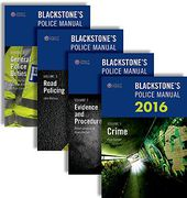 Cover of Blackstone's Police Manuals 2016: Four Volume Set