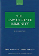 Cover of The Law of State Immunity