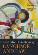 Cover of The Oxford Handbook of Language and Law