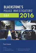 Cover of Blackstone's Police Investigators' Q&A 2016