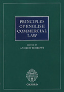 Cover of Principles of English Commercial Law
