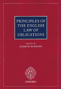 Cover of Principles of the English Law of Obligations
