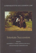 Cover of Comparative Succession Law Volume II: Intestate Succession