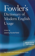 Cover of Fowler's Dictionary of Modern English Usage