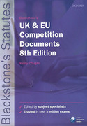 Cover of Blackstone's UK & EU Competition Documents
