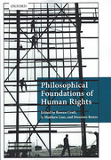 Cover of Philosophical Foundations of Human Rights