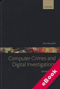 Cover of Computer Crimes and Digital Investigations (eBook)