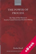 Cover of The Power of Process: The Value of Due Process in Security Council Sanctions Decision-Making (eBook)