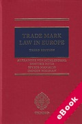 Cover of Trade Mark Law in Europe (eBook)