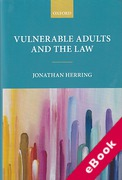 Cover of Vulnerable Adults and the Law (eBook)
