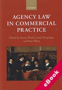 Cover of Agency Law in Commercial Practice (eBook)