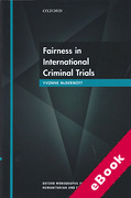 Cover of Fairness in International Criminal Trials (eBook)