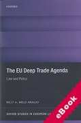 Cover of The EU Deep Trade Agenda: Law and Policy (eBook)