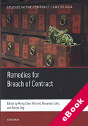 Cover of Remedies for Breach of Contract in Asia (eBook)