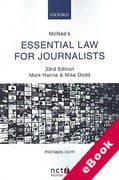 Cover of McNae's Essential Law for Journalists (eBook)