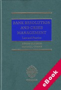 Cover of Bank Resolution and Crisis Management: Law and Practice (eBook)