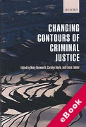 Cover of The Changing Contours of Criminal Justice (eBook)
