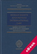 Cover of Human Rights and Private International Law (eBook)