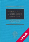 Cover of Commercial Arbitration in Germany (eBook)