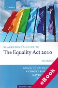 Cover of Blackstone's Guide to The Equality Act 2010 (eBook)