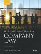 Cover of Sealy & Worthington's Text, Cases & Materials in Company Law