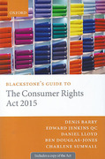Cover of Blackstone's Guide to the Consumer Rights Act 2015