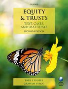 Cover of Equity & Trusts: Text, Cases, and Materials