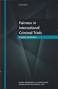 Cover of Fairness in International Criminal Trials