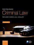 Cover of Card, Cross and Jones: Criminal Law