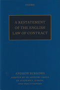 Cover of A Restatement of the English Law of Contract