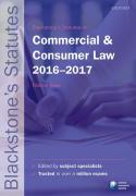 Cover of Blackstone's Statutes on Commercial & Consumer Law 2016 - 2017