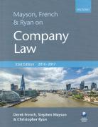 Cover of Mayson, French & Ryan on Company Law 2016-2017