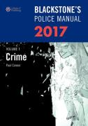 Cover of Blackstone's Police Manual 2017 Volume 1: Crime