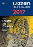 Cover of Blackstone's Police Manual 2017 Volume 2: Evidence & Procedure